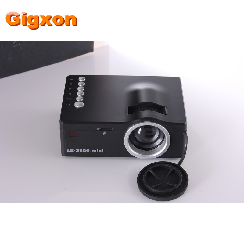 ФОТО Gigxon - G18 Christmas gift High Quality Home Theater LED Mini Portable Projector Cinema HDMI AV USB SD TF 3.5mm/Audio