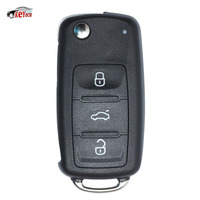KEYECU Remote Car Key Fob 3 Button 434MHz ID48 Chip 3T0 837 220 L for Skoda Octavia Roomster Yeti Super Rapid Citigo