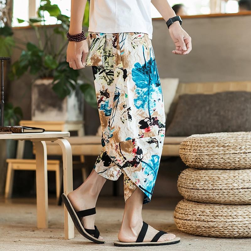 Полосатые спортивные штаны с трафаретным принтом, уличные мужские спортивные штаны с эластичной талией, спортивные штаны для бега - Цвет: color8
