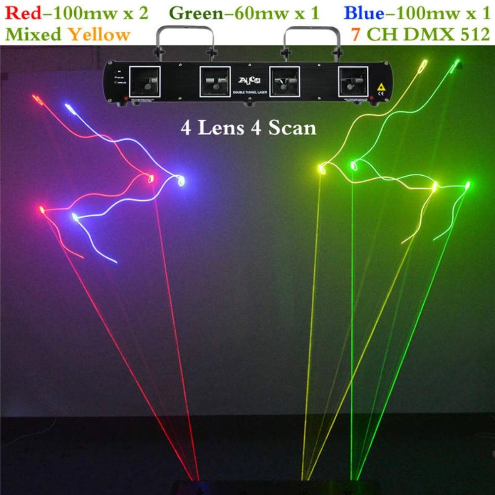 SHINP 4 объектива 7CH DMX RGBY лазерный анимационный сканер сценический лучевой свет проектор DJ Дискотека вечерние шоу Pro светодиодный светомузыка DL55C +