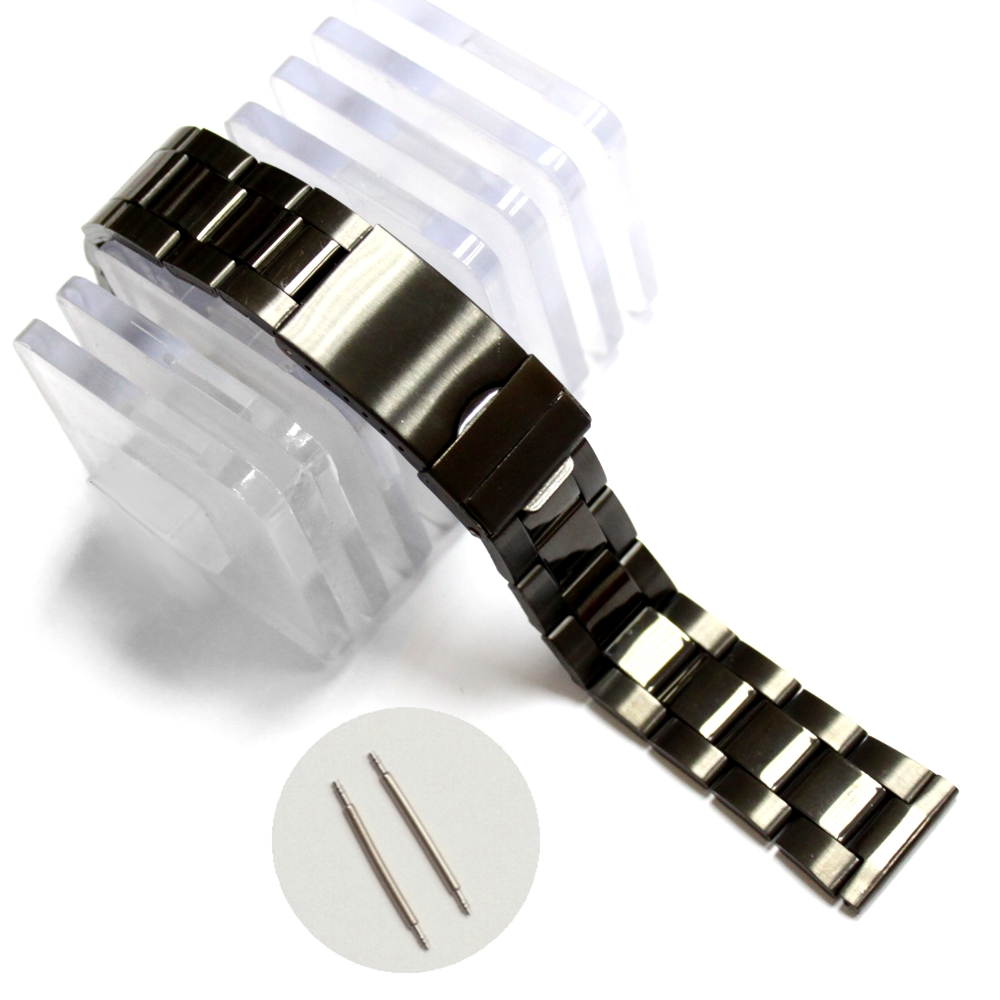 20mm Elegant Stainless Steel Unisex Watch Band Straps Rose Gold Gold Gun Black Replacement for 20mm Watches Band WB1066