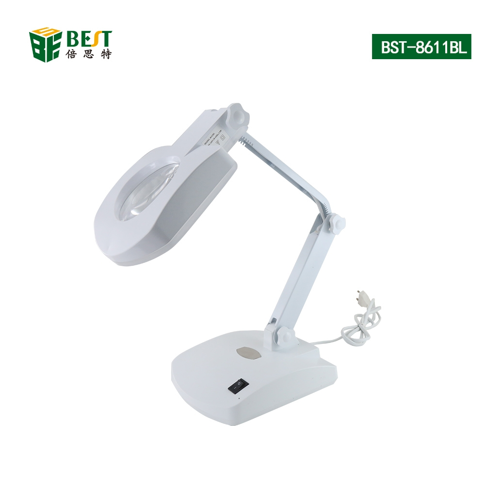 Portable LED Folded Reading Desk Table Study Light Night Lamp+ Magnifying Glass Watch Repair Tool|Hand Tool Sets| |  - title=