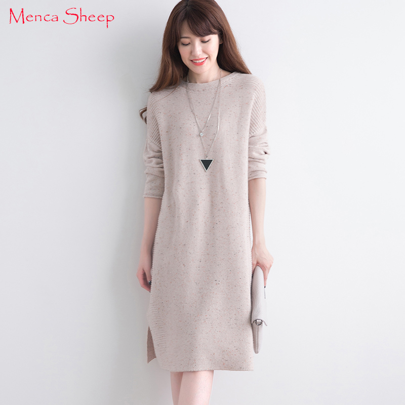 Menca Sheep Women Sweaters Loose style 100% Cashmere Long Pullovers O neck Girls Fashion Shirts Lady Winter Warm Knit Clothes women s sweater pullover 100% genuine goat cashmere women sweaters and pullovers knit round neck long sleeves thick sweaters