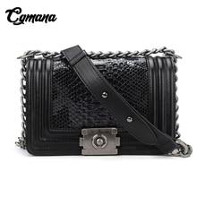 CGMANA Serpentine Woman Shoulder Bags 2018 Luxury Leather Handbags Brand Women Bag Designer Snake Messenger Bags Bolsa Feminina все цены