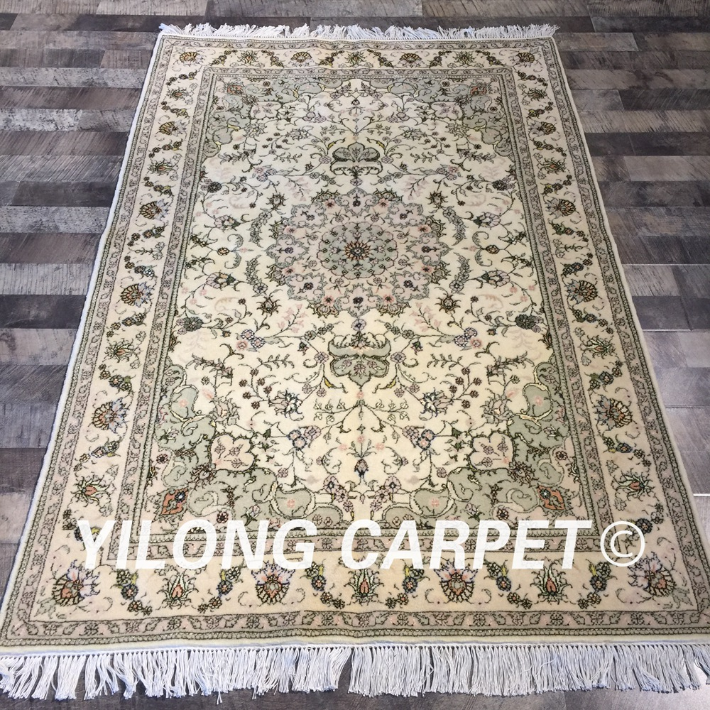 Yilong 4'x6' Handknotted Chinese Oriental Home Luxury Rug