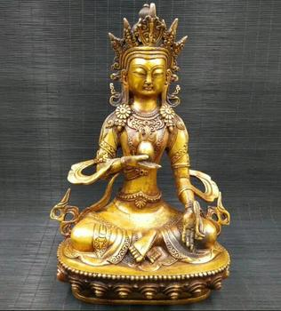 China Tibetan Buddhism Brass statue longevity god Buddha