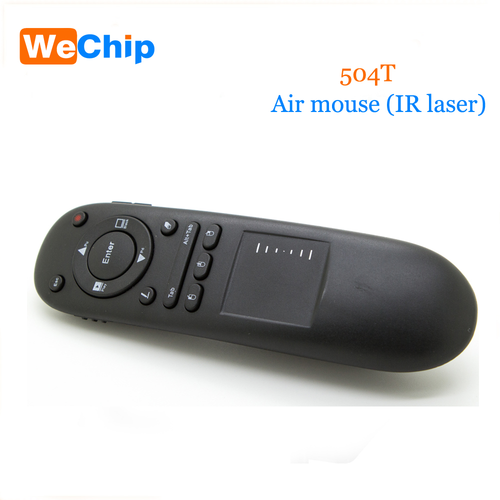 504t 2.4G Wireless Presenter Pointer Air Mouse RF Remote Control Touchpad Laser For Multifunctional PPT For Projector Computer