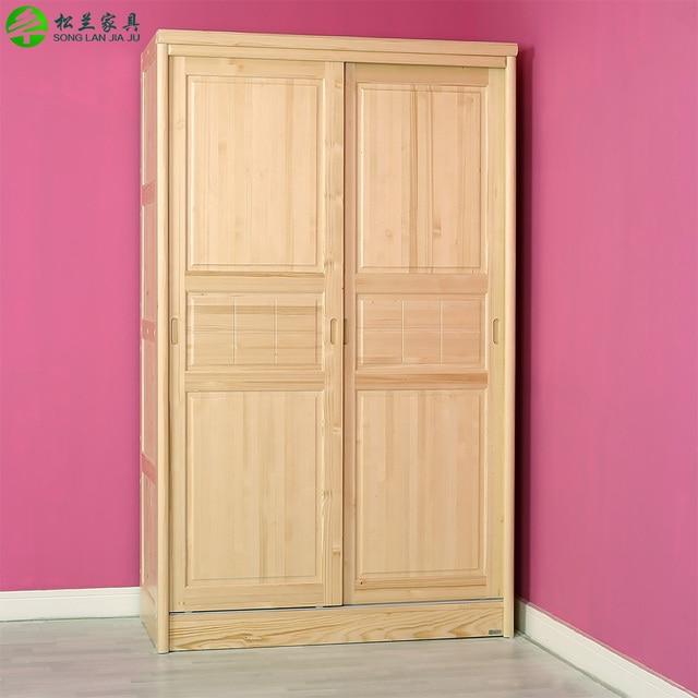 Todos los muebles de madera maciza de pino armario puerta - Puertas correderas de madera ...