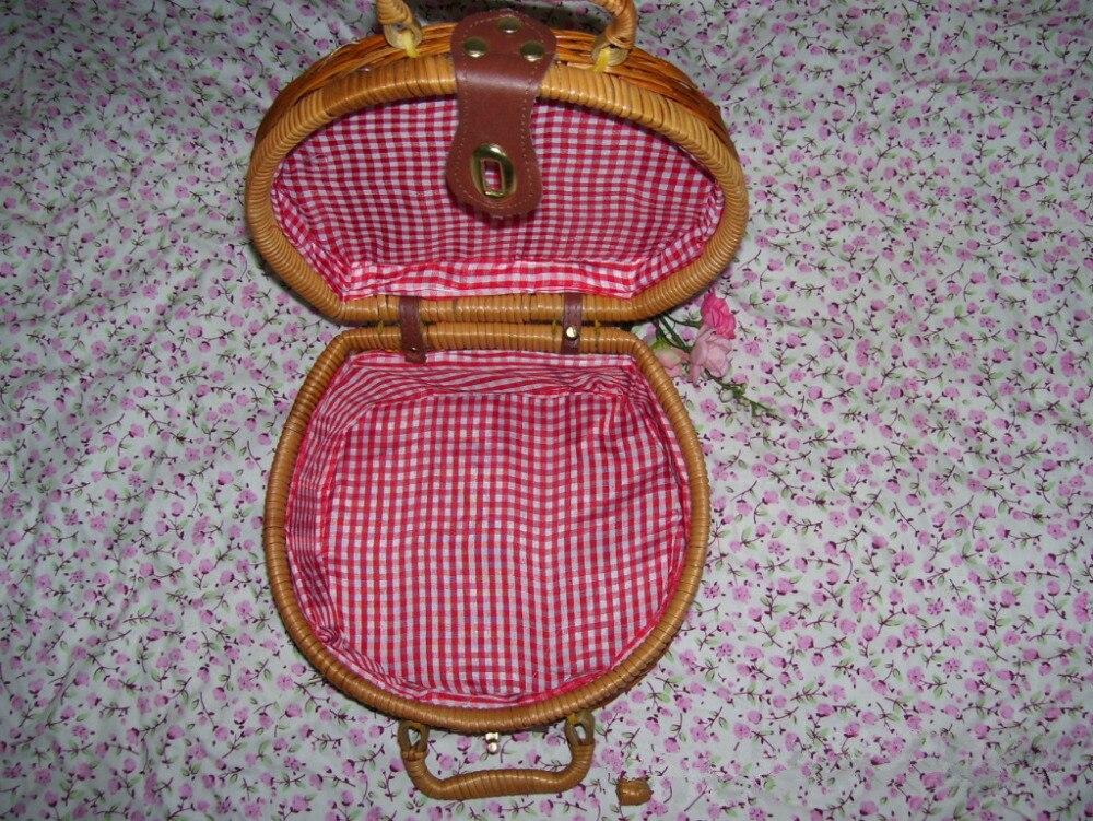 18 Summer Beach Bamboo Bag Straw Women Handbag Handmade Woven Bag Luxury Designer Tote Travel Clutch Lunch Bags snx008 30 OFF 3