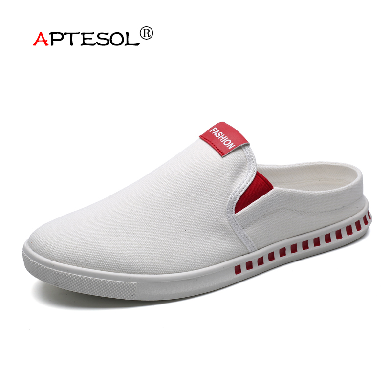 APTESOL N Fashion Denim Vulcanize Shoes Men Summer Slip-On Massage Casual Shoes Men's Breathable Sneakers Zapatos De Hombre 2017 new fashion men casual shoes slip on summer breathable hole shoes eva outdoor light shoes zapatos hombre size 39 44 la201m