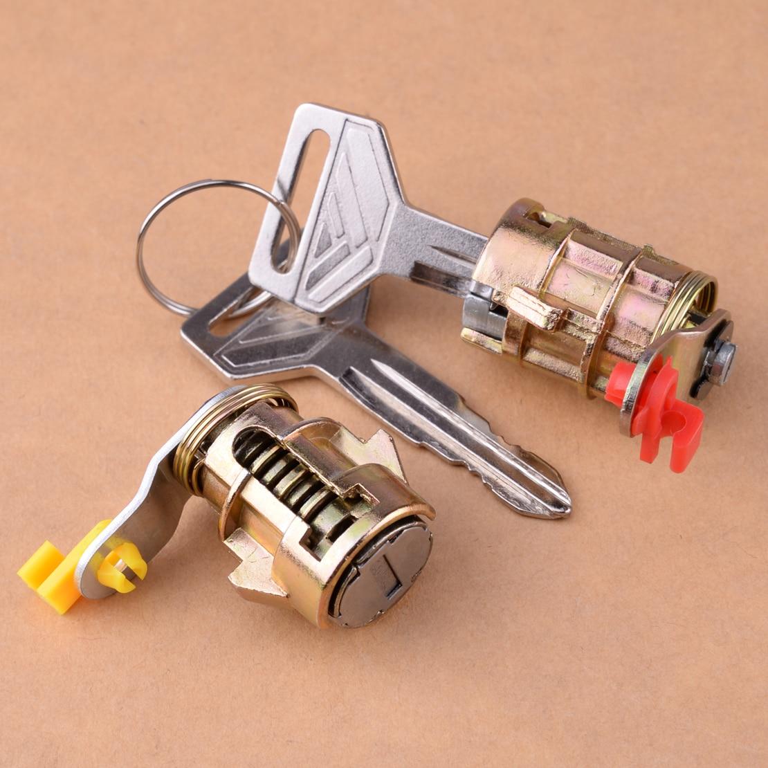 Citall New 1 Pair Car Door Lock Cylinder Keys Kit