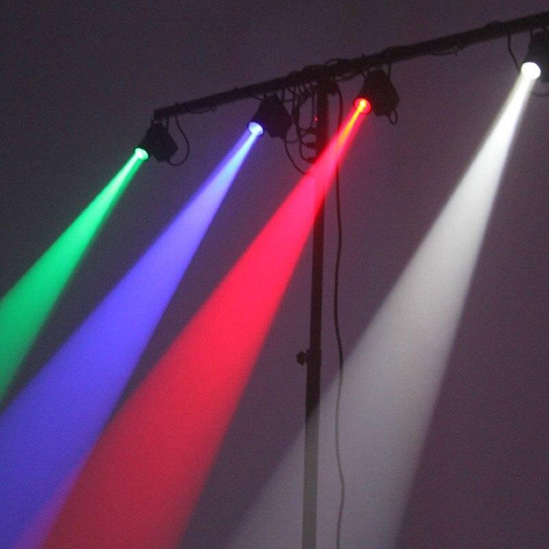Hot 9W LED RGB Spots Light DMX Stage Lights 3 Color Changing Mini DJ Effect Lighting Strobe Effects US EU Plug White Black In