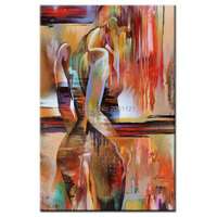 Hand Painted nude Art modern abstract woman Oil Painting On Canvas naked girl Wall Picture Home Decor Set