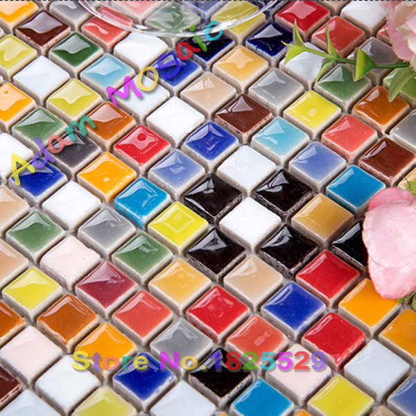 Aliexpress Com Buy Colorful Kitchen Tiles Glazed Mosaic