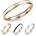 New arrival fashion 2mm gold plated ring epoxy glue titanium stainless steel 4 colors ring women ring wholesale