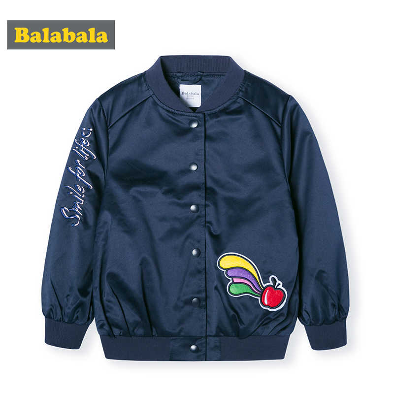 Balabala детская куртка детская одежда, бейсбольная форма для девочек весна 2019 новая одежда для малышей в Корейском стиле хлопковый мягкая куртка
