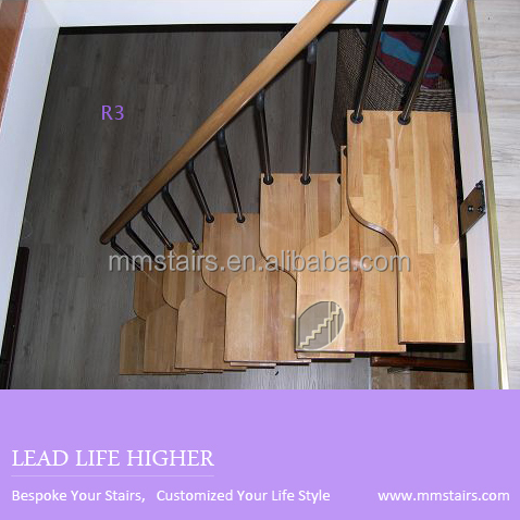 DIY Steel Stairs ( Steel Wood Staircase) Mini Stairs ( Alternated Steps  Stairs )