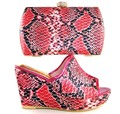 HS16019 2017 Red Color Italian Shoe with Matching Bag Women Shoe and Bag To Match African Shoe and Bag Set for Party In Women
