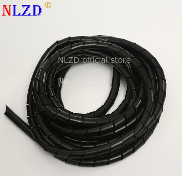 4-18mm black Feet Spiral Wire Organizer Wrapping Tube Flexible Manage Cord Hiding Cable Sleeves bands
