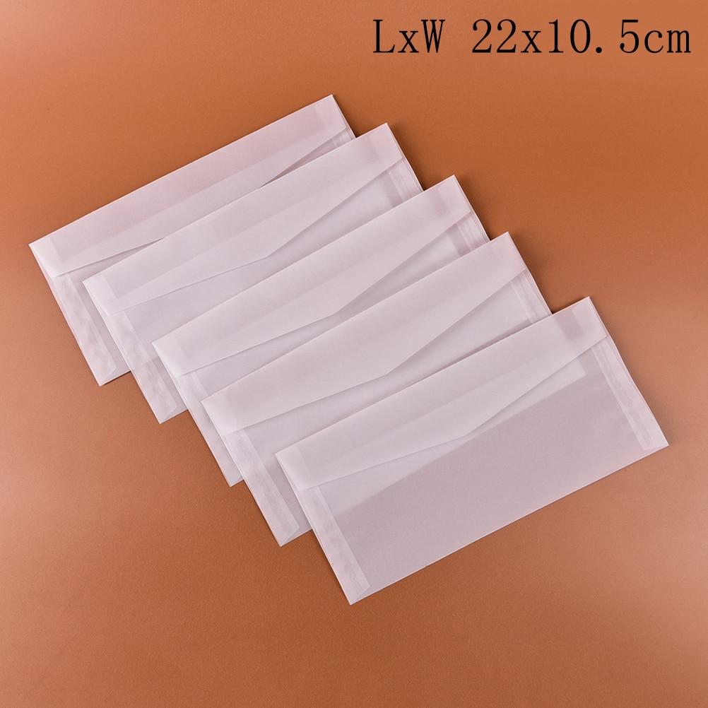 LETTER WRITING SET A5 SIZE PAPER TRANSLUCENT ENVELOPES