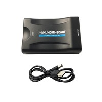 1080P Cable USB HDMI To SCART Video Stereo Audio Converter Adapter For Sky Box HD TV