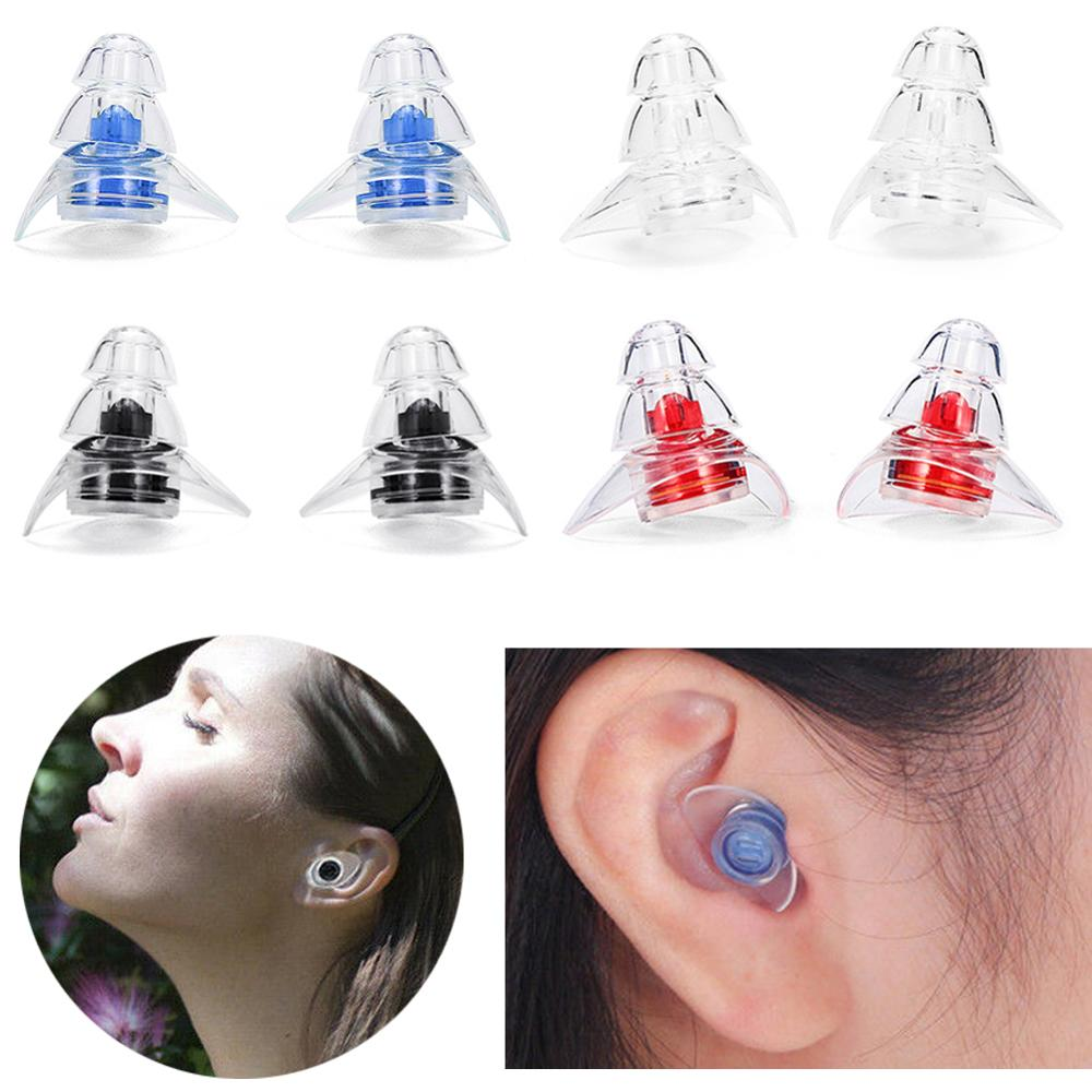 1 Pair Soft Silicone Ear Plugs Ear Protection Reusable Professional Music Earplugs Noise Reduction For Sleep DJ Bar Bands Sport