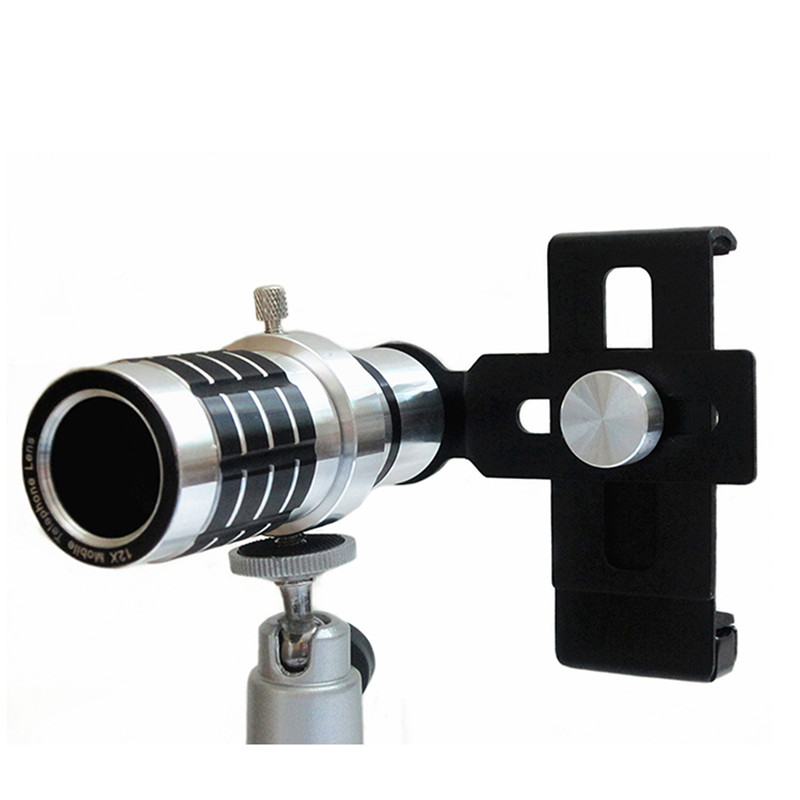 4a9f461b514334 GOESTIME Clip 12X Optical Mobile Phone Camera Lens For iphone For Samsung  With Tripod Fish Eye Lens 12x Mobile Phone Camera Lens-in Mobile Phone  Lenses from ...