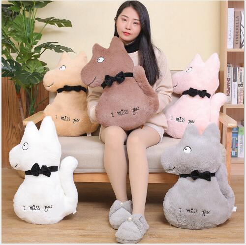 WYZHYWolf three-in-one pillow air conditioning blanket plush toy bedside ornaments to send friends and children gifts 45x30CM
