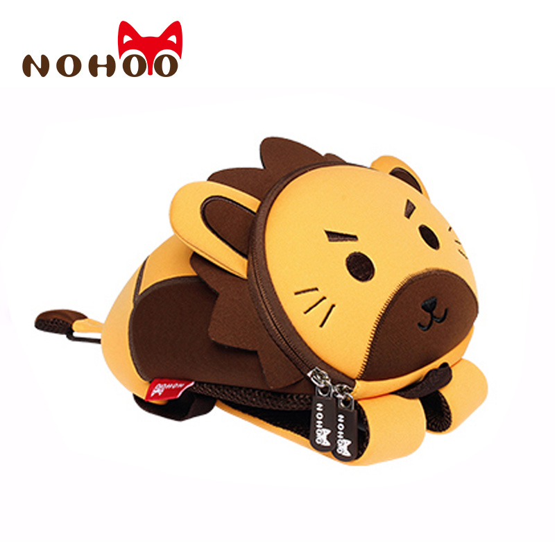 NOHOO Toddler Kids Backpack and Waist Bags Waterproof Pre School Bag Cute 3D Animal Children School Backpack for Boys Girls zoo animal sweetheart backpack toddler pouch non woven string shoe shourlder school bag for boy and girls birthday party gift