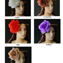 15 см Шелковый цветок для sinamay Роскошный аксессуар для волос. С Брошь, заколка для волос