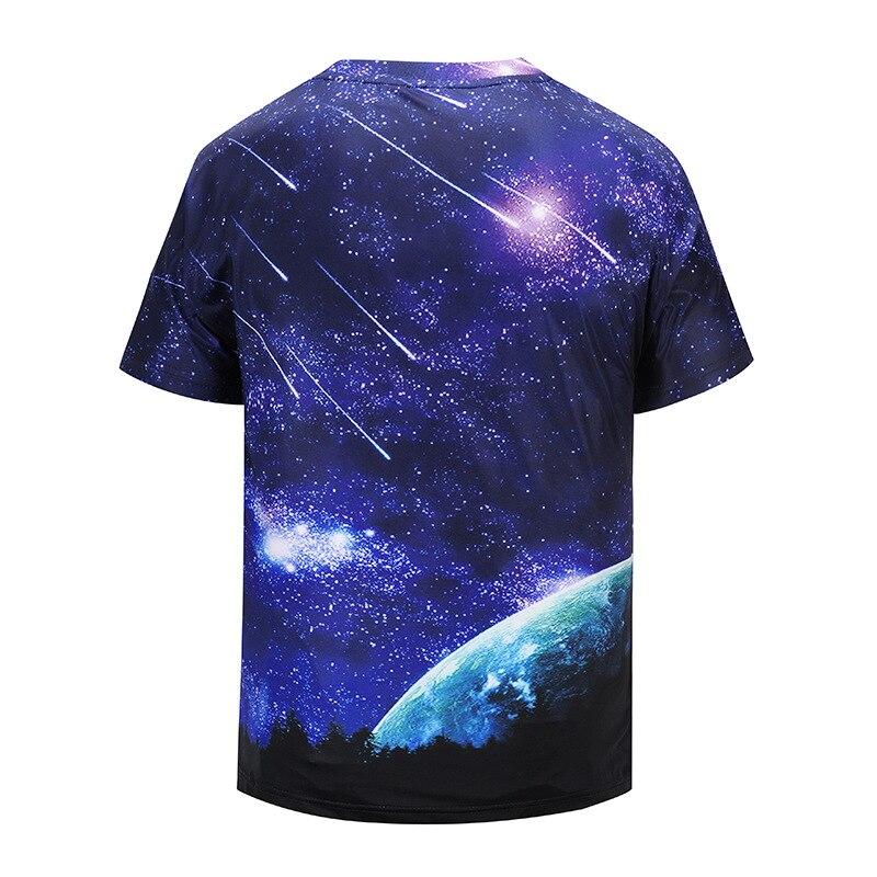 2018 Newest European Size Harajuku Meteor shower 3D Print Cool T-shirt Men/Women Short Sleeve Summer Tops Tees T shirt S-2XL