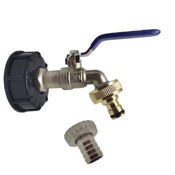 Adaptador de adaptador de 3/4 pulgadas, cable de grifo, adaptador de tanque IBC, conector de reemplazo, válvula de conexión para conectores de hogar para jardín Irr