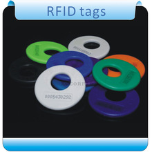 Free shipping 100pcs customized/ 125KHZ  TK4100 RFID tag /wash label/ care labels+ 1pcs reader