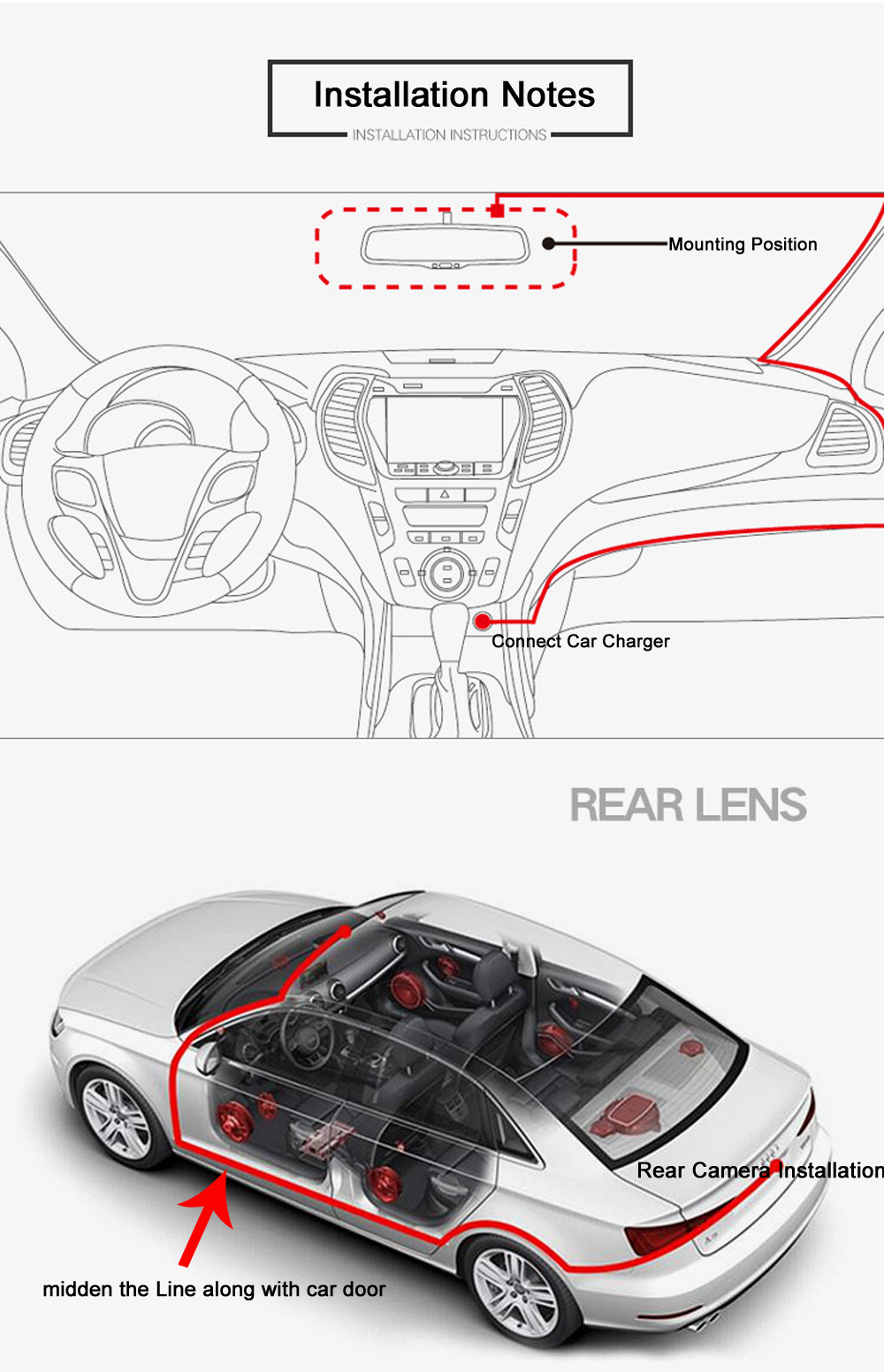 "6.86"" inch 4G ADAS Car DVR Dash Cam Mirror GPS Bluetooth WIFI Android 5.0 Dual Lens FHD 1080p Video Recorder Camera 12"