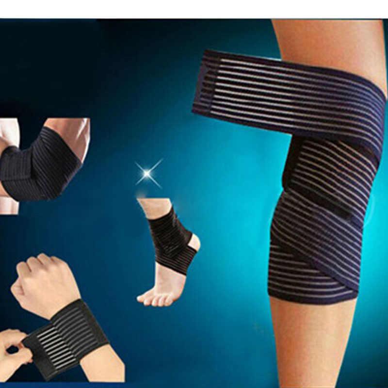 膝肘手首足首ボンデージカフサポートラップスポーツ包帯圧縮ストラップベルトフィットネスジムブレーステープ弾性バンド 642170