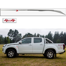 Car exterior 4 PC Gradient side stripe graphic Vinyl car sticker for  isuzu dmax CABINE CREW 4X4