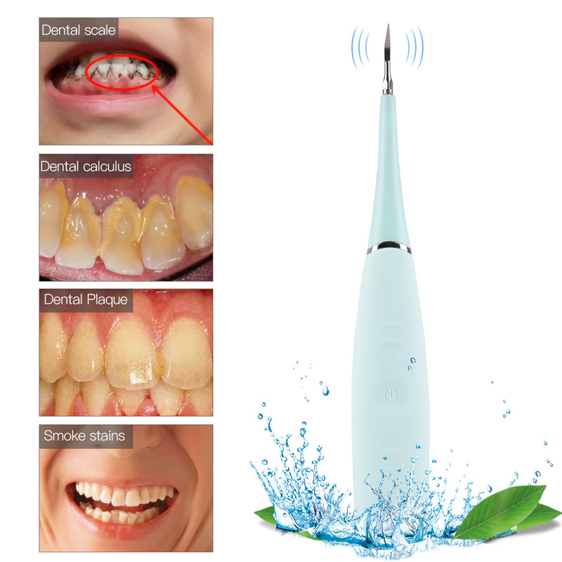 Portable Electric Sonic Vibration Dental Scaler Tooth Calculus Remover Stains Tartar Tool Toothwash Dentist Adjustable Modes