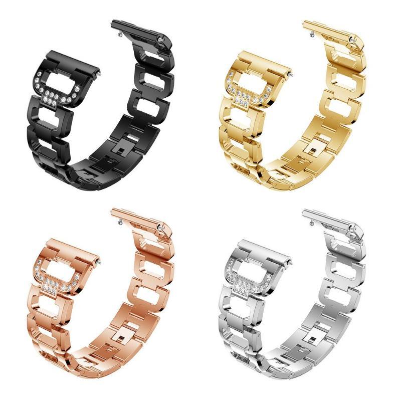 1bfdcae16fd9 ALLOYSEED tipo D lujo cristal mujer aleación brillante pulsera Band para  Fitbit Versa banda de reloj inteligente Correa