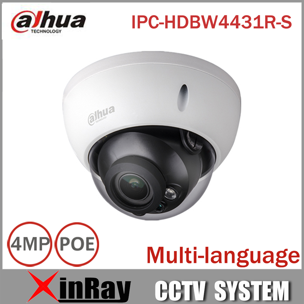 ФОТО Dahua POE Camera  IPC-HDBW4431R-S 4MP IP Camera Replace IPC-HDBW4421R Support IK10 IP67 Waterproof with POE SD Card slot