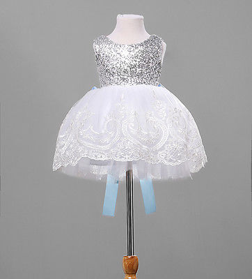 где купить  Baby Kids Girl Clothing Dresses Bowknot Lace Floral XMAS Party Formal Bridesmaid Ball Cute Girls Dress New Arriving  по лучшей цене