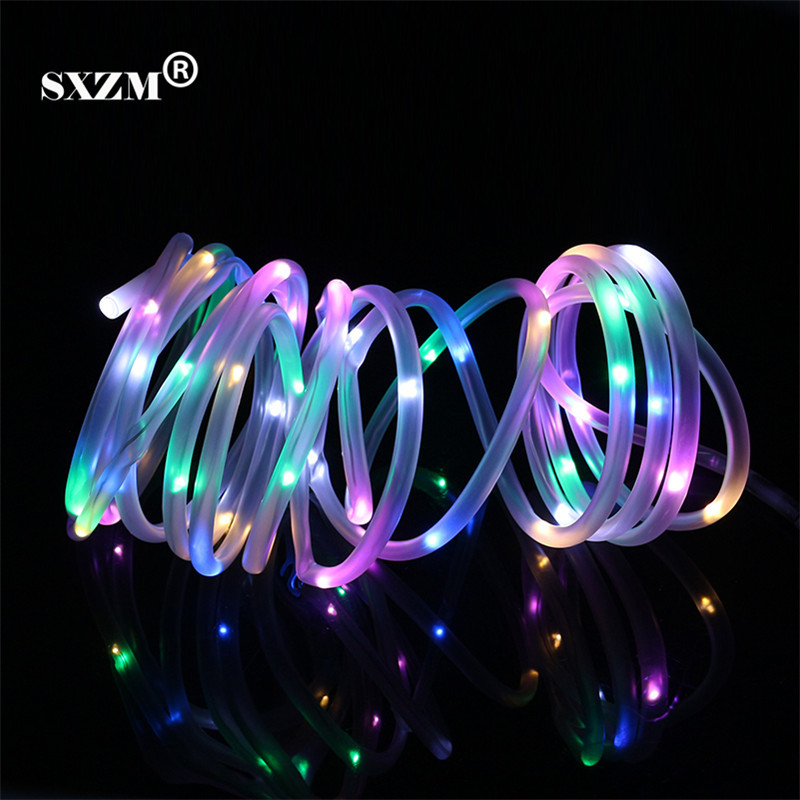 SXZM DC5V 5M led string light with Power adapter Flexible waterproof Copper outdoor lighting Fiary decoration for Garden,Party