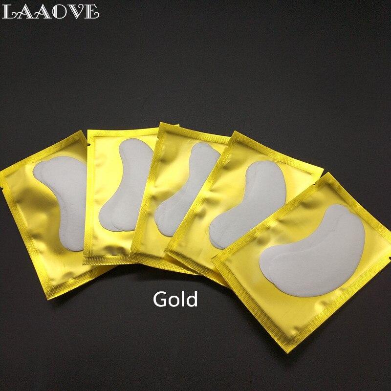LAAOVE 100 пар/лот бумажные патчи для ресниц подушечки для глаз женские инструменты для макияжа Волокно для наращивание ресниц