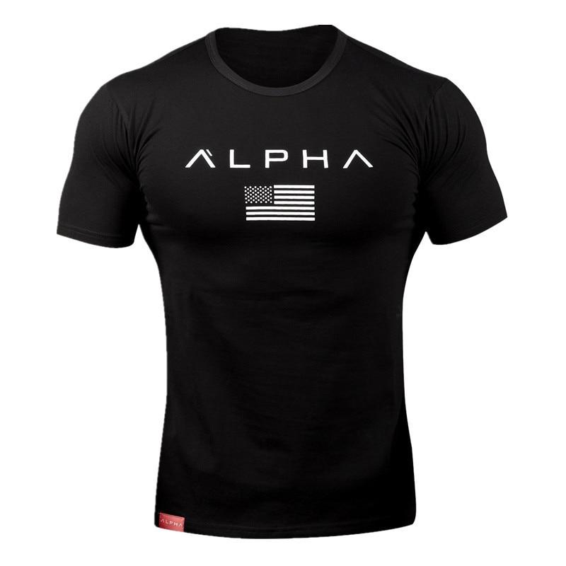 alpha t shirt black