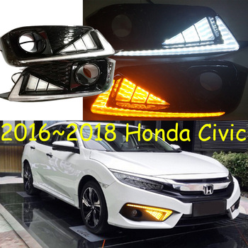 car accessories for Civic daytime light 2016 2017 2018 LED DRL headlight for Honda Civic fog light