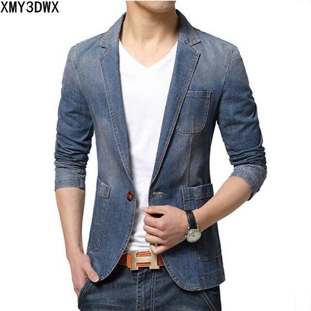 856e9d8a6b1be 2019 di Marca giacca sportiva degli uomini di modo mens denim giacca  sportiva del cappotto del