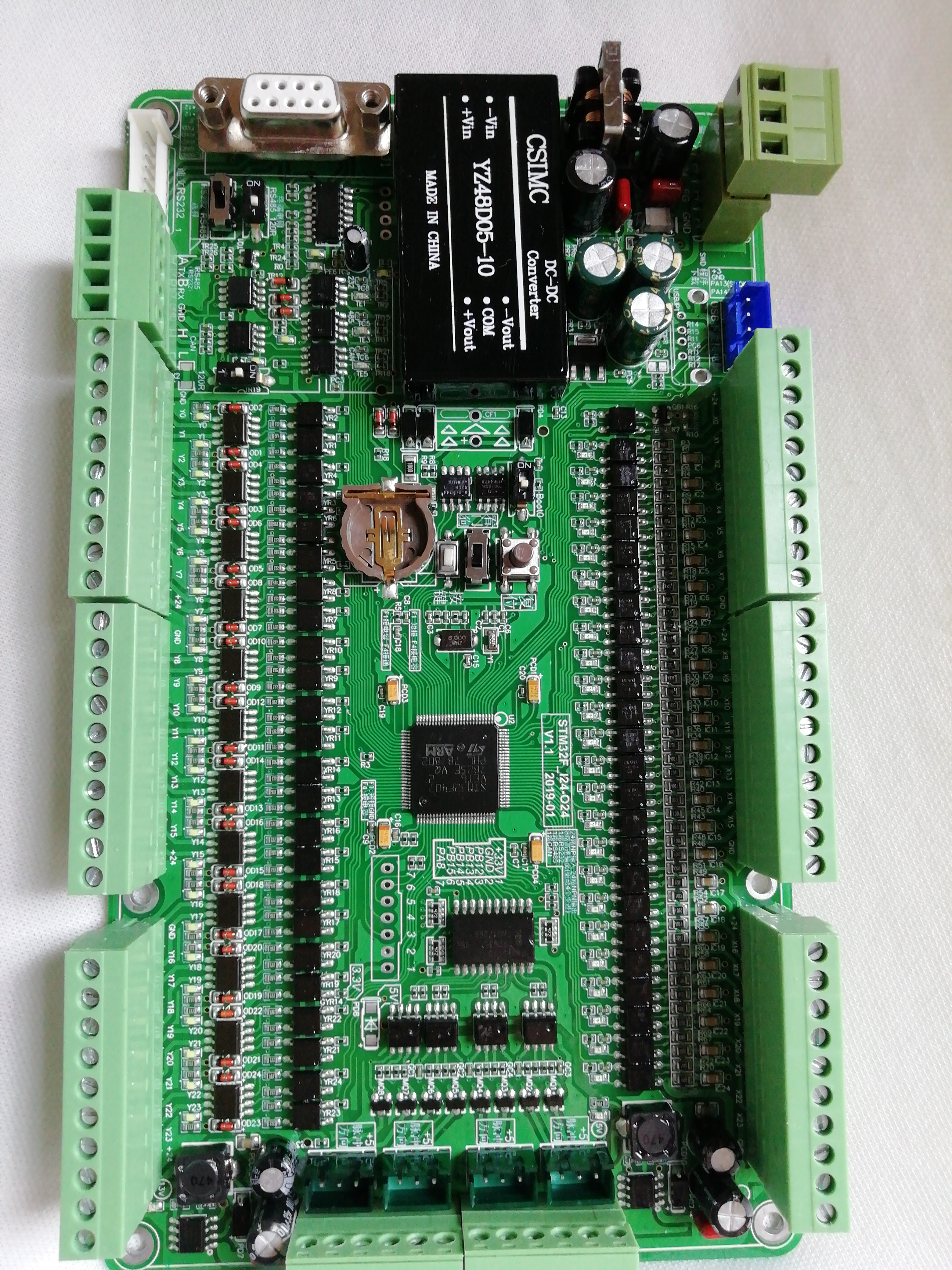 KEIL 520 Programming of STM32F103VCT6 Industrial Control Board+4-way Step Motor Pulse Control RS232 RS485 C Language ProgrammingKEIL 520 Programming of STM32F103VCT6 Industrial Control Board+4-way Step Motor Pulse Control RS232 RS485 C Language Programming
