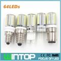 E12/E14/G9/G4/B15 LED Bulb Lamp 110V/220V 6W 64Pcs SMD3014 Silicone Body Led Corn Light Chandelier Lights Replace Halogen Lamp