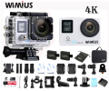 Wimius 2.0 LTPS+0.66 Status Screen Wifi Action Camera 4K Portable HD Video Sports Car DVR Go Waterproof 40M+ Portable DV Pro Bag