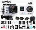 Wimius 2.0 ltps + 0.66 tela de status de ação wi-fi câmera 4 k hd portátil Esportes de vídeo Do Carro DVR Ir À Prova D' Água 40 M + DV Portátil Pro Saco