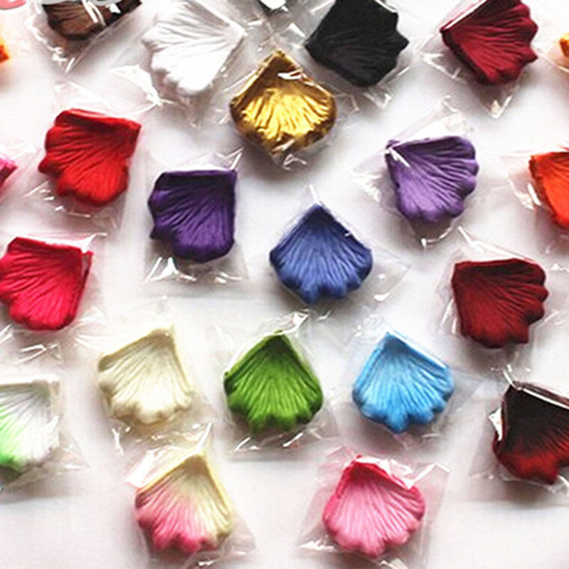144 pcs/lot Wedding Silk Rose Petals Bridal Flowergirl Basket Fake Flower Decoration